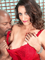 50 Plus MILFs - A big, black cock, a very hairy pussy and a creampie - Persia Monir (44 Photos)