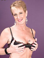 50 Plus MILFs - What Jamie Lee didn't do in True Lies, Misty does here! - Misty Luv (41 Photos)