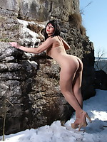 Pantyhose Diva having some fun in the nature | PantyhoseDiva.com