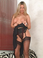 Horny housewife Taylor is ready for action - Girdles Granny